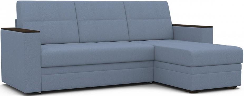Диван-кровать Цвет Диванов Атланта Next угловой темно-голубой 231x150x95 см