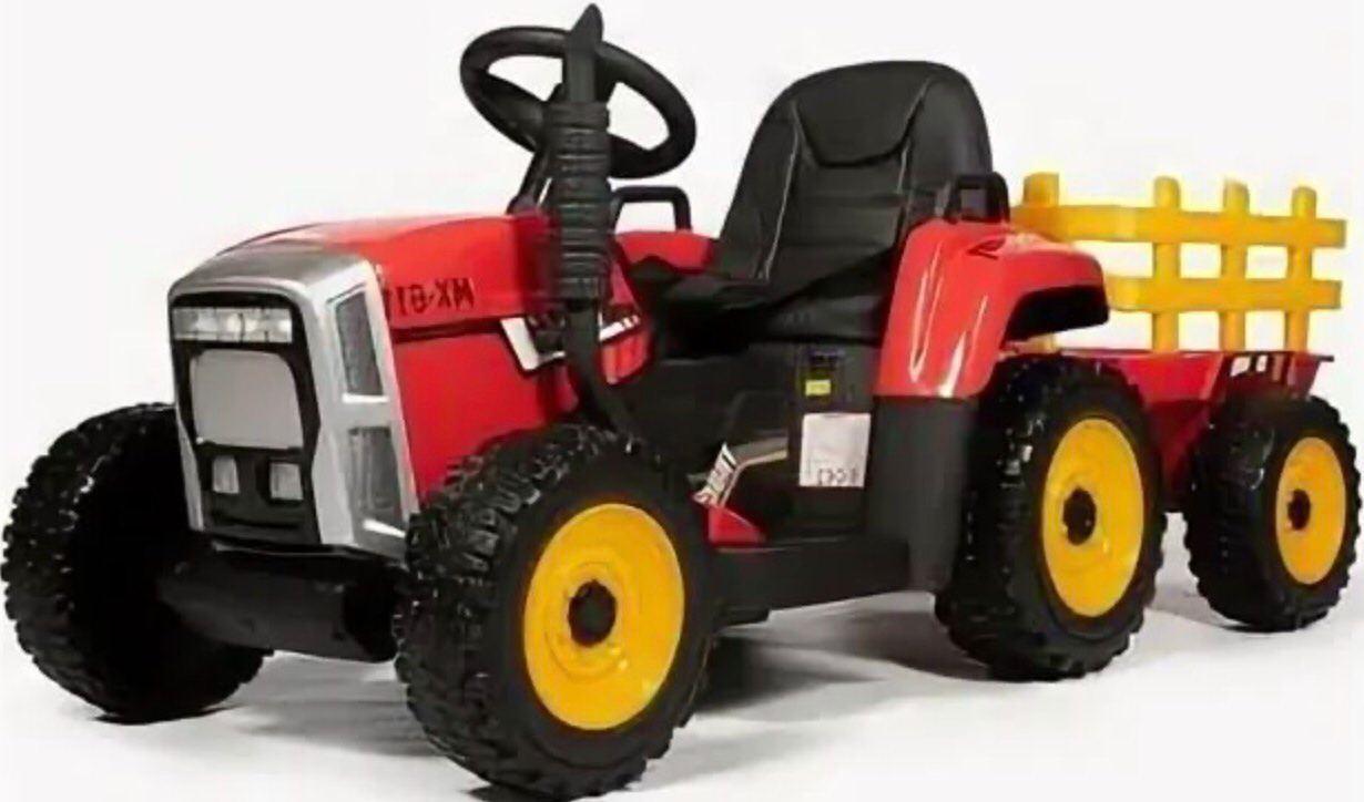 Трактор с прицепом Barty TR 77 Red