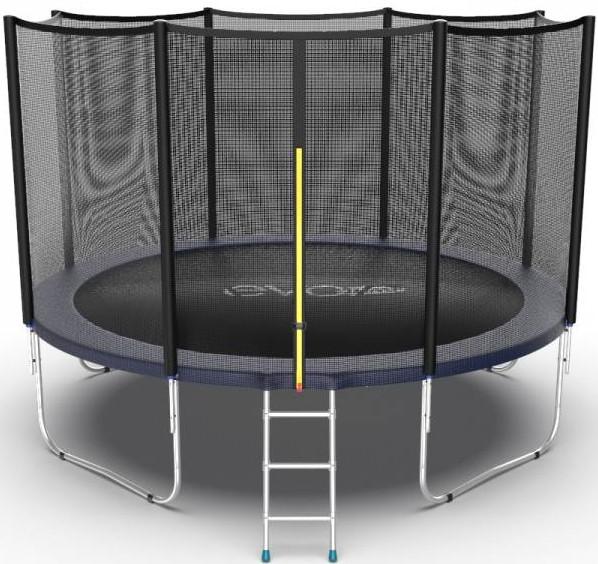 Батут Evo Jump External 12FT Blue (с внешней сеткой и лестницей)