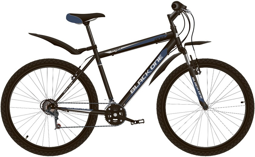 """Велосипед Black One Onix 27.5 (2020) черный/синий/серый 27.5""""/16"""""""