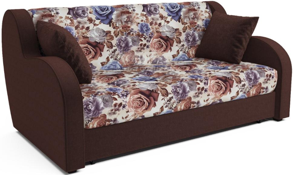 Диван-кровать Столплит Аккордеон Боро цветы/шоколадный 172x104x83 см