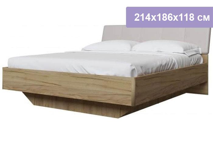 Двуспальная кровать Интердизайн Тоскано дуб крафт/капучино 214x186x118 см (ортопедическое основание)