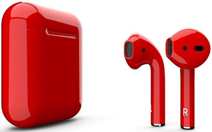 Наушники Apple AirPods 2 2019 Gloss Red…