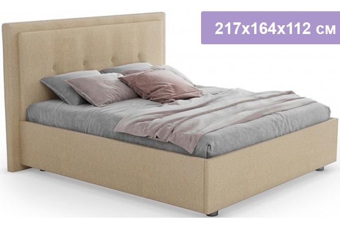Полутороспальная кровать Цвет Диванов Палермо Н бежевый 217x164x112 см