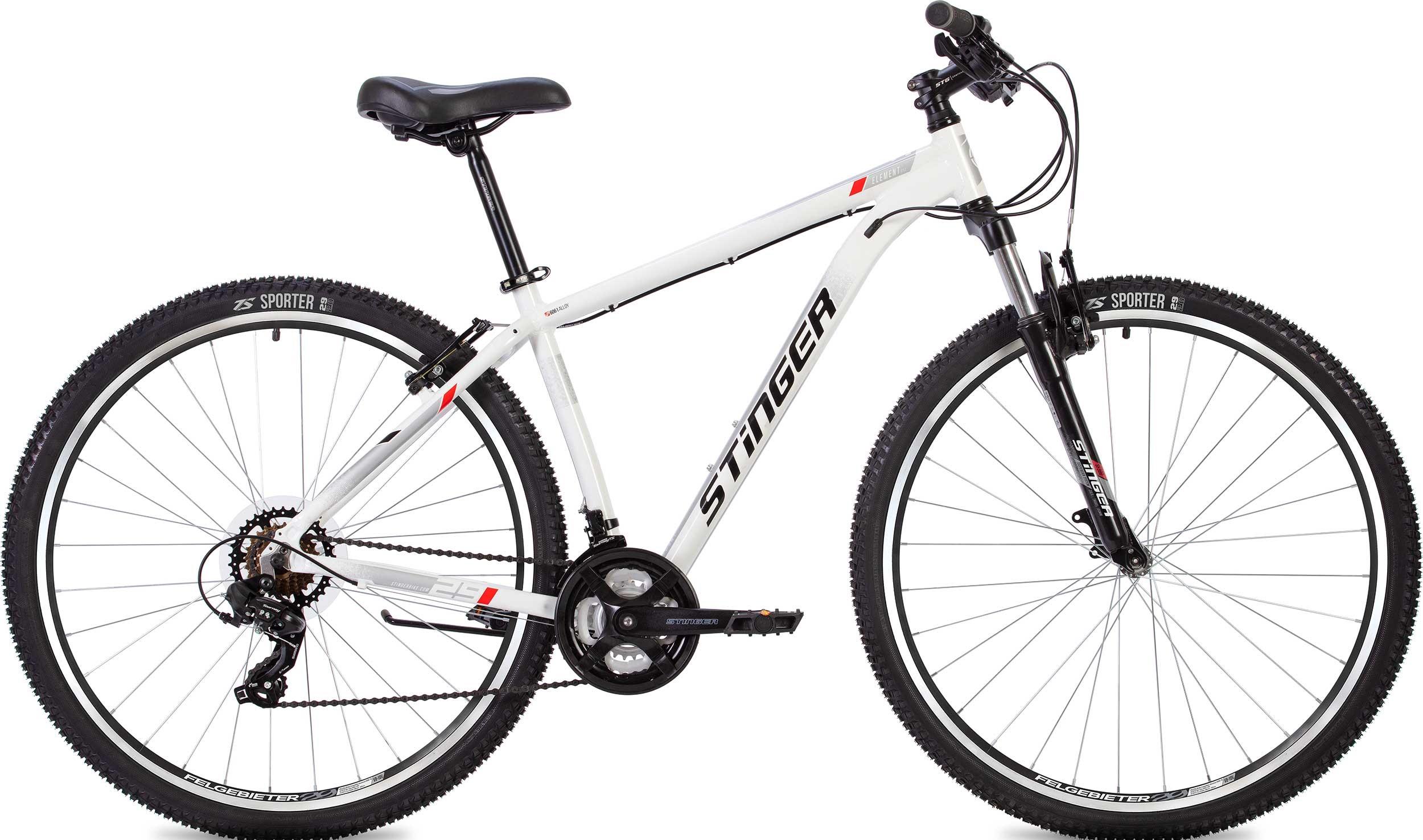 """Велосипед Stinger Element STD 27.5 (2020) белый 27.5""""/20"""""""