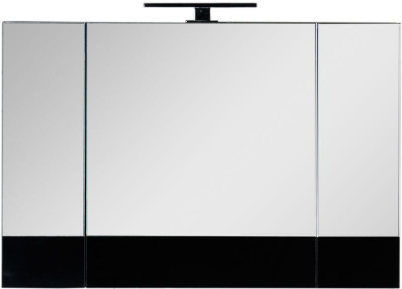 Зеркало-шкаф Aquanet Верона 100 черный 100x67x14 см