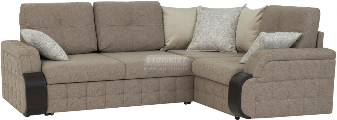 Диван-кровать Столплит Антей ДУ угловой светло-серый 247x183x91 см