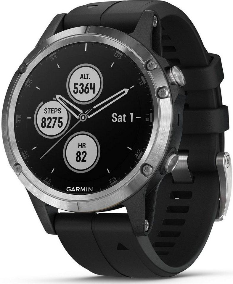 Умные часы Garmin Fenix 5 Plus Sapphire 47mm Silver/Black