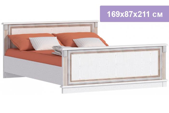 Двуспальная кровать Столплит Версаль СБ-2054 белый ясень 169x87x211 см