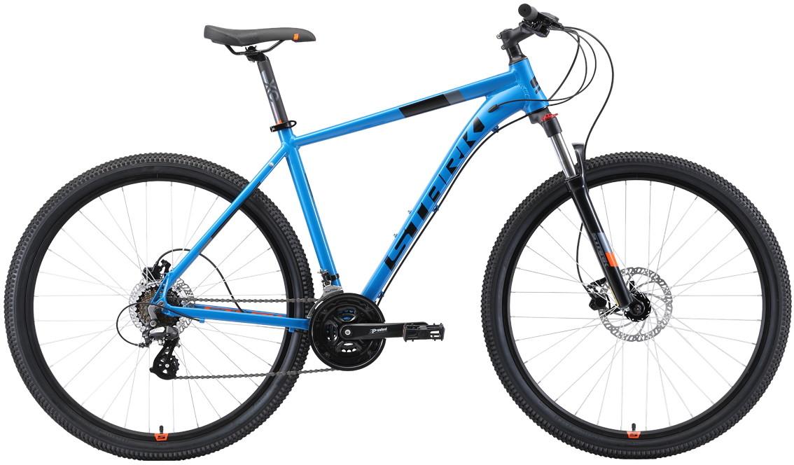 """Велосипед Stark Router 29.3 HD (2019) голубой/черный/оранжевый 29""""/22"""""""
