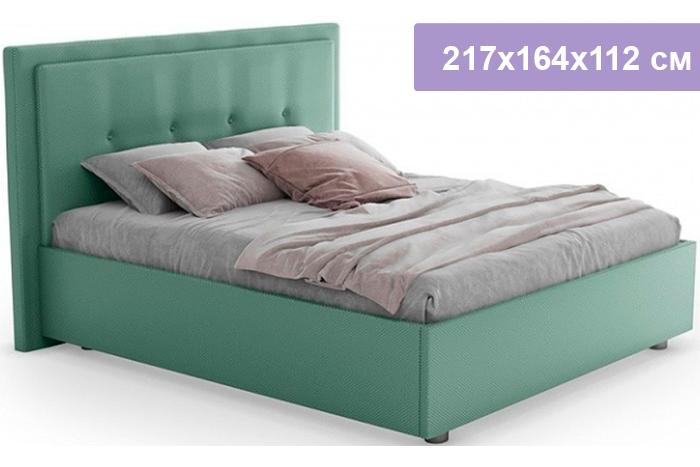 Полутороспальная кровать Цвет Диванов Палермо Н мятный 217x164x112 см