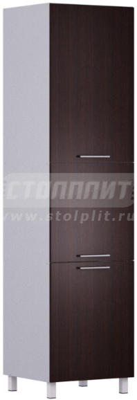 Пенал Столплит Анна 301-360-360-0945 алюминий/венге 60x237x56 см
