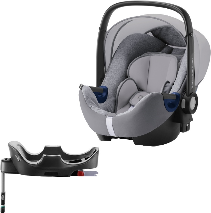 Автокресло Britax Roemer Baby-Safe2 i-Size Grey Marble (0-13 кг) + Base Flex