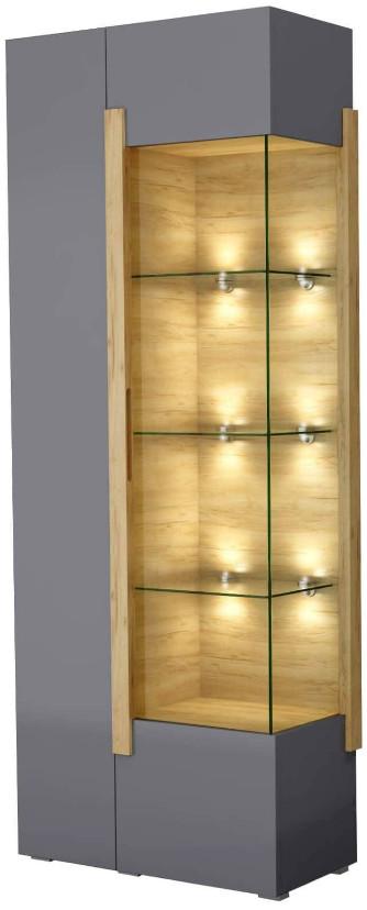 Витрина Интердизайн Дубай светло-коричневый/серый 1990x750x360 см (левосторонний)