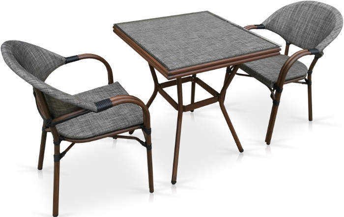Комплект мебели Афина-Мебель T130/C029-TX серо-бежевый