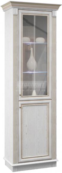 Витрина Столплит Версаль 010-205-500-0000 белый Ясень 72x218x42 см