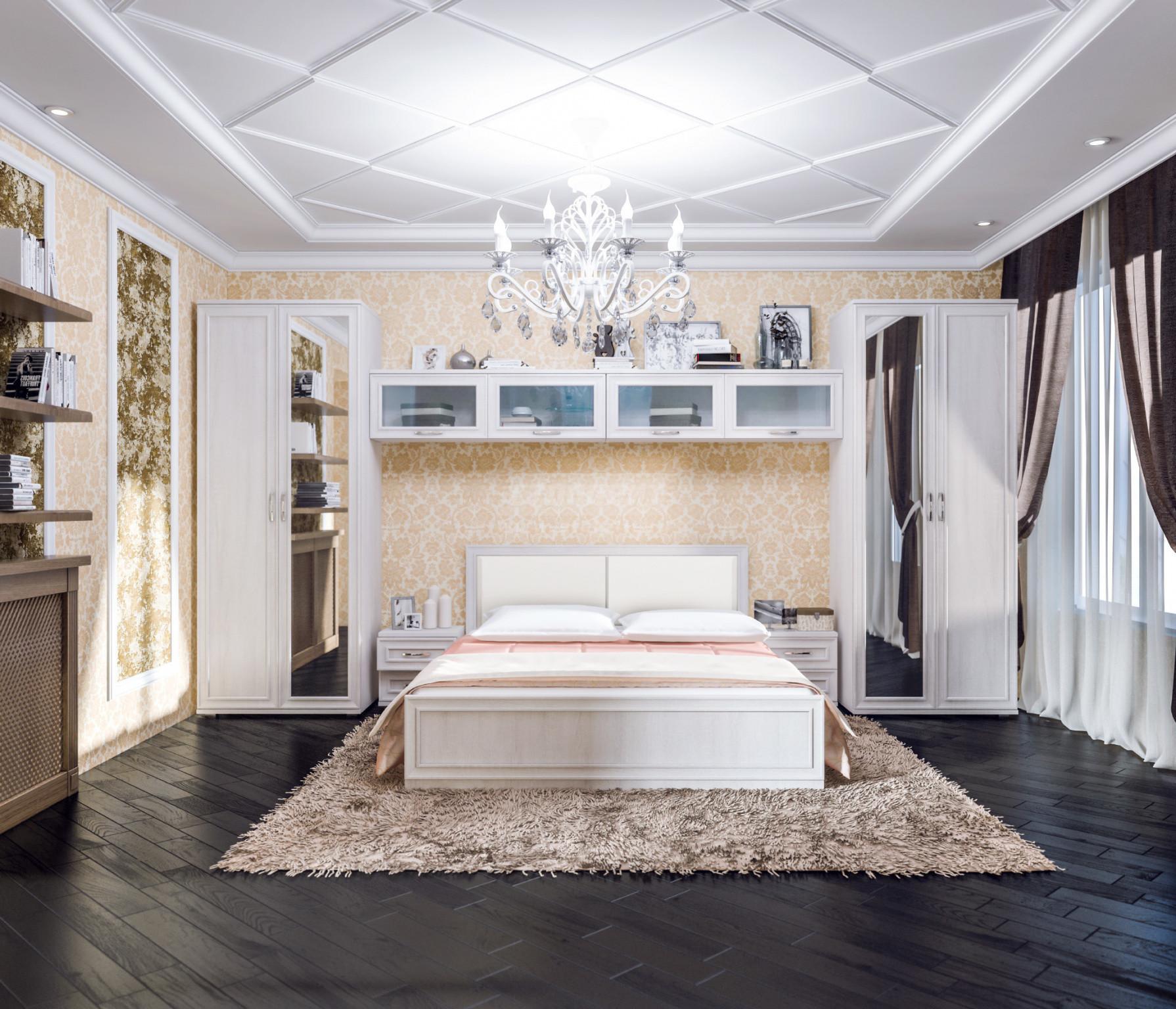 Спальня Столплит Флоренция 123-919-395-0363 дуб сонома белый