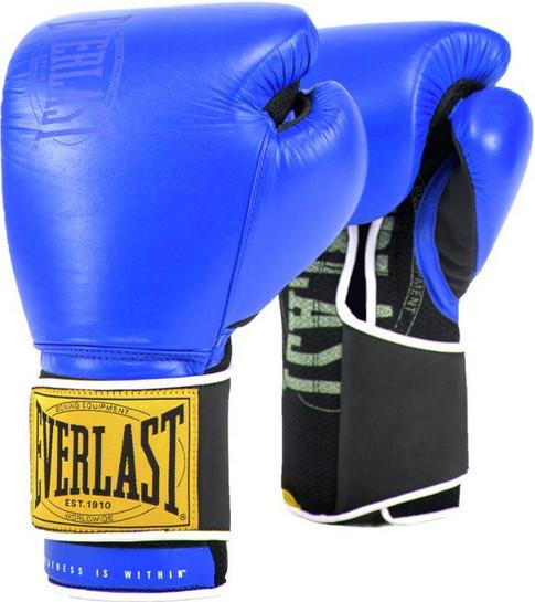 Перчатки Everlast 1910 Classic 12oz Blue (на липучке)