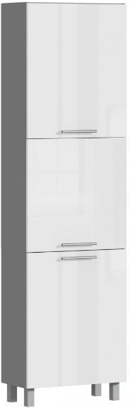 Пенал Столплит Анна 301-560-360-0930 алюминий/белый глянец 60x217x29 см