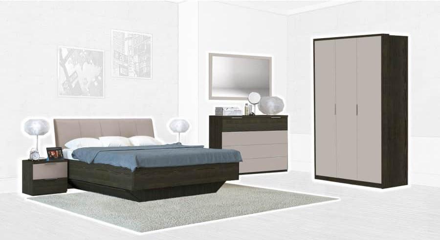 Спальня Интердизайн Тоскано ясень темный/капучино (композиция 3)