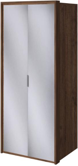 Шкаф Интердизайн Тоскано темно-коричневый/белый 221x97x60 см