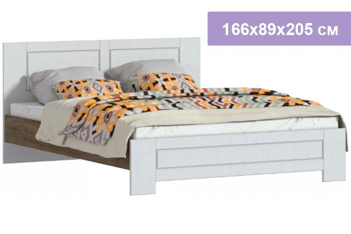 Двуспальная кровать Столплит Илона Прованс СБ-2673/1 дуб сонома трюфель/сандал белый 166x89x205 см