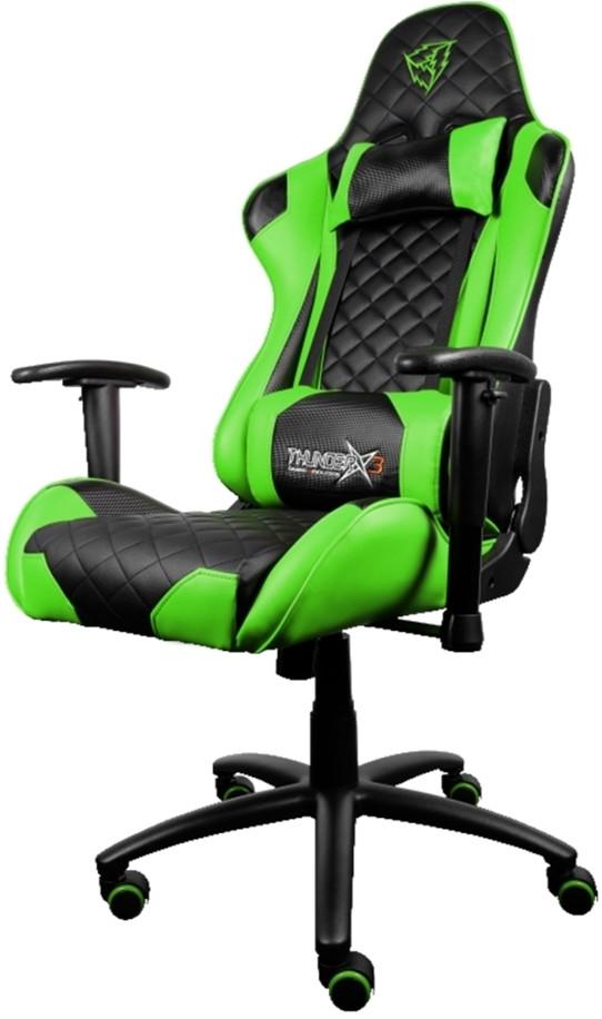 Игровое кресло ThunderX3 TGC12 черный/з…
