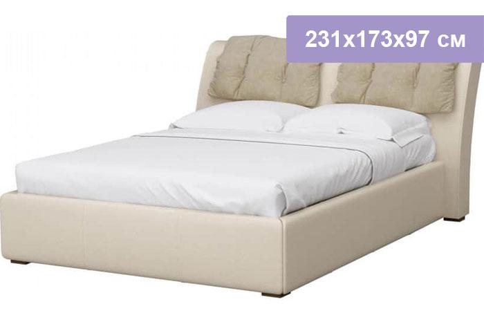 Двуспальная кровать Интердизайн Моника бежевый/бежевый 231x173x97 см (ортопедическое основание)