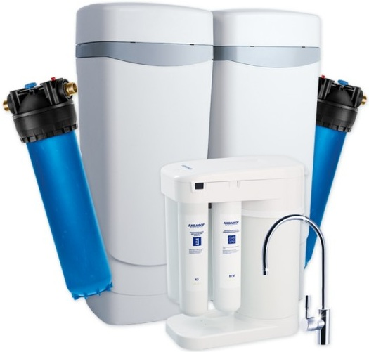 Комплект водоочистки Аквафор WaterMax APQ + Гросс + Морион + соль