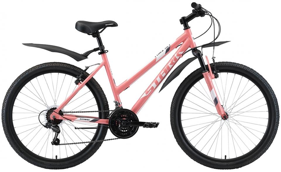 """Велосипед Stark Luna 26.1 V (2020) розовый/белый/серый 26""""/16"""""""