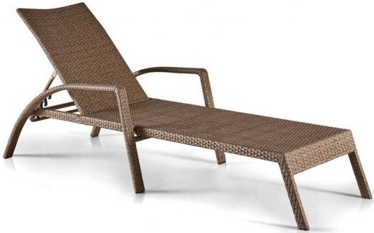 Шезлонг-лежак Афина-Мебель A30B-W56 светло-коричневый (без матраса)