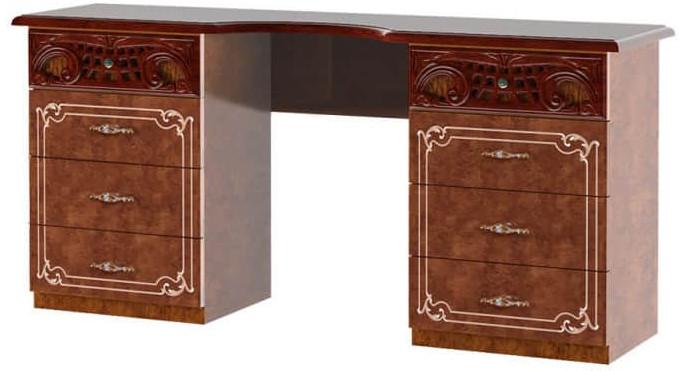Туалетный столик Интердизайн Роза коричневый/коричневый 743x1550x406 см