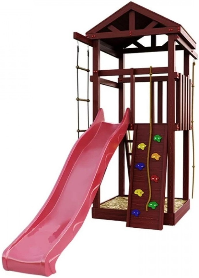 Игровой комплекс IgraGrad Classic Панда Фани Tower (со скалодромом)