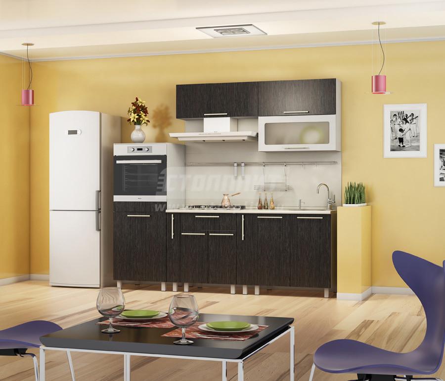 Кухня Столплит Анна 6 венге 230x82x60 см
