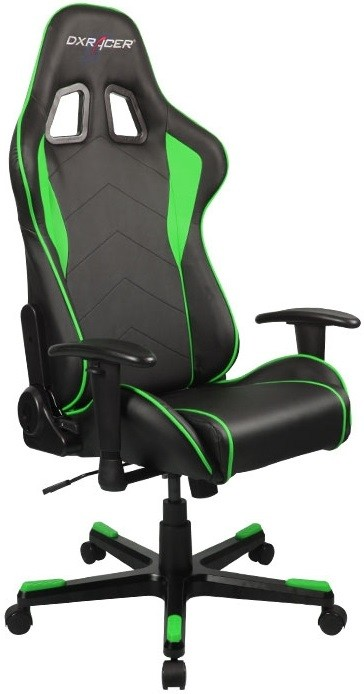Игровое кресло DXRacer OH/FE08/NE черный/зеленый