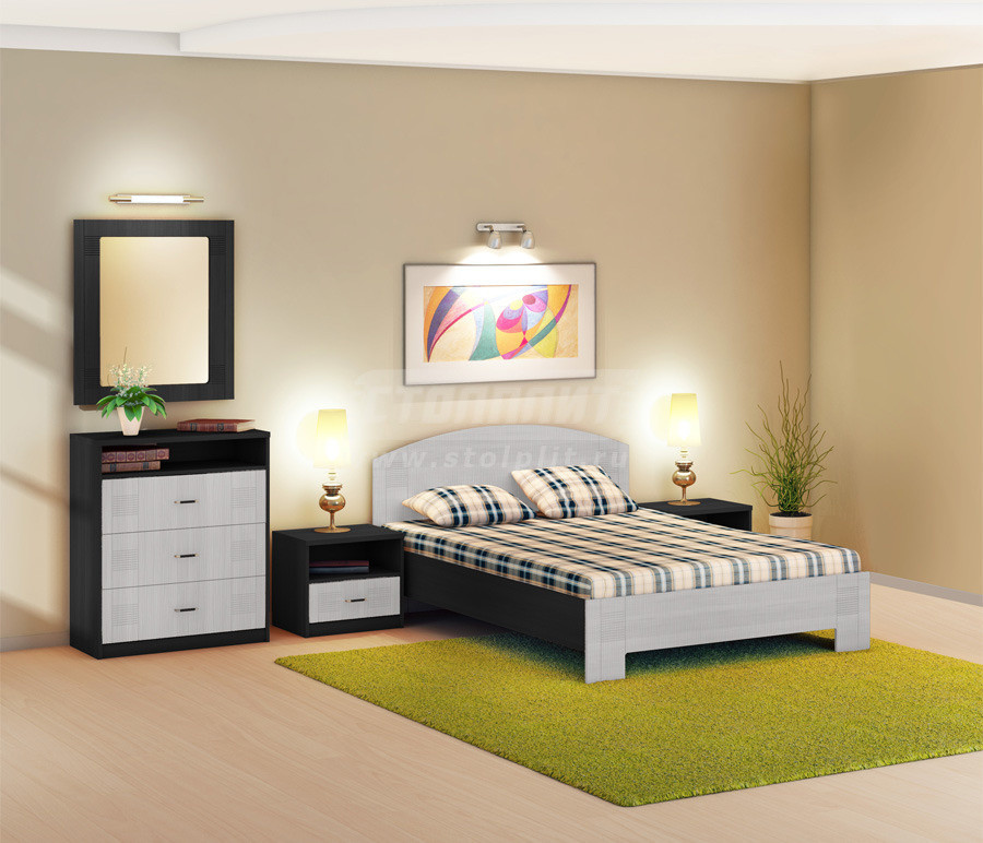 Спальня Столплит Сити 418-757-477-0001 дуб феррара/онденс (набор 1)