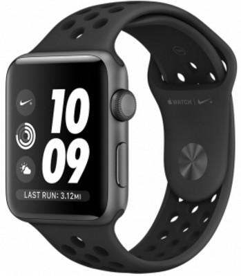 Умные часы Apple Watch Nike+ Series 3 38mm Space Grey Aluminum Case with Anthracite/Black Nike Sport Band