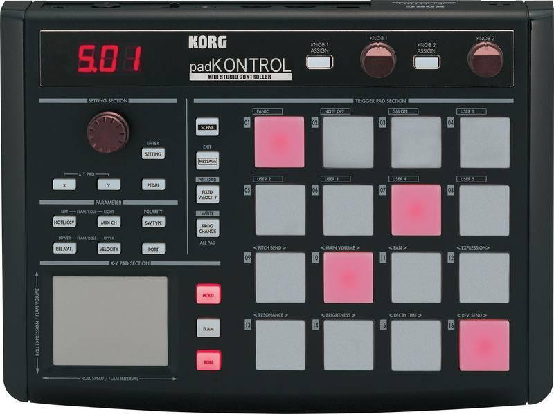 Dj-контроллер Korg Padkontrol KPC-1 BK
