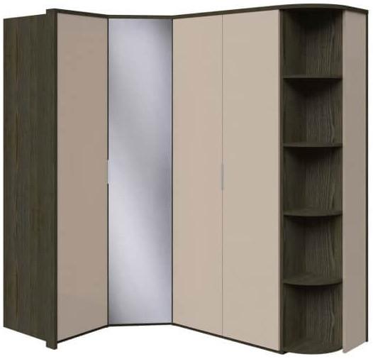 Шкаф Интердизайн Тоскано ясень темный/капучино 2209x2110x599 см