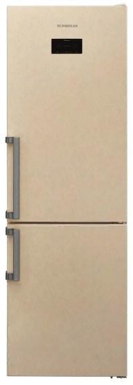 Холодильник Scandilux CNF 341 EZ B Beigh Marble