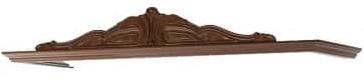 Верхний декоративный щит Интердизайн Роза коричневый/коричневый 220x1468x476 см