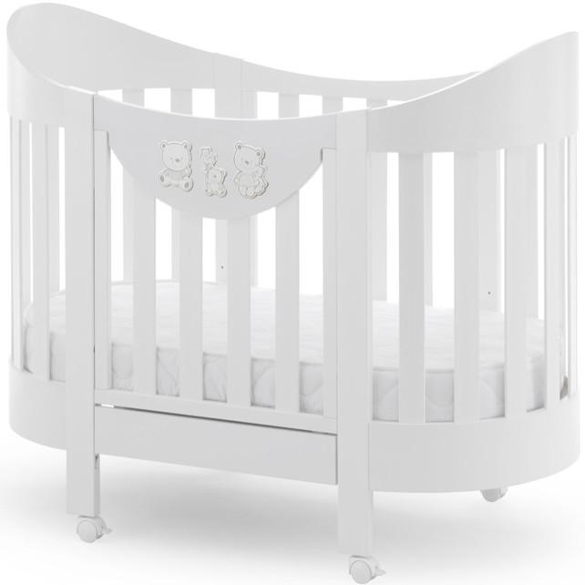 Кроватка Italbaby Happy Family Oval белый