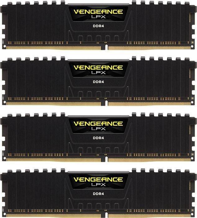 Память Corsair CMK64GX4M4C3200C16 DIMM DDR4 4x16Gb 3200MHz Black