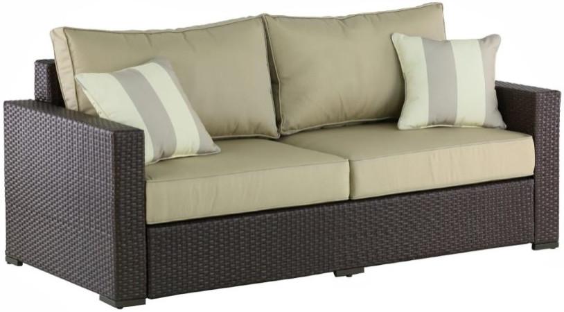 Диван Афина-Мебель AFM-215B светлый коричневый