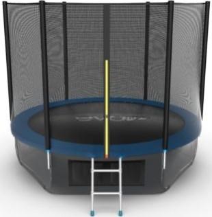 Батут Evo Jump External 10FT Blue (с внешней и нижней сеткой, лестницей)