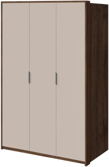 Шкаф Интердизайн Тоскано темно-коричневый/коричневый 221x142x60 см