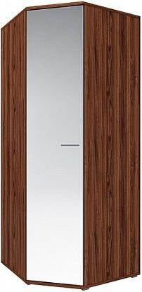 Шкаф Цвет Диванов Вейла В-21.1 угловой с зеркалом орех каннеро/песочный матовый 88x88x215 см