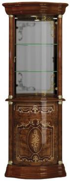 Витрина Интердизайн Роза 37.106.01.O коричневый/коричневый 2084x556x556 см (правая)