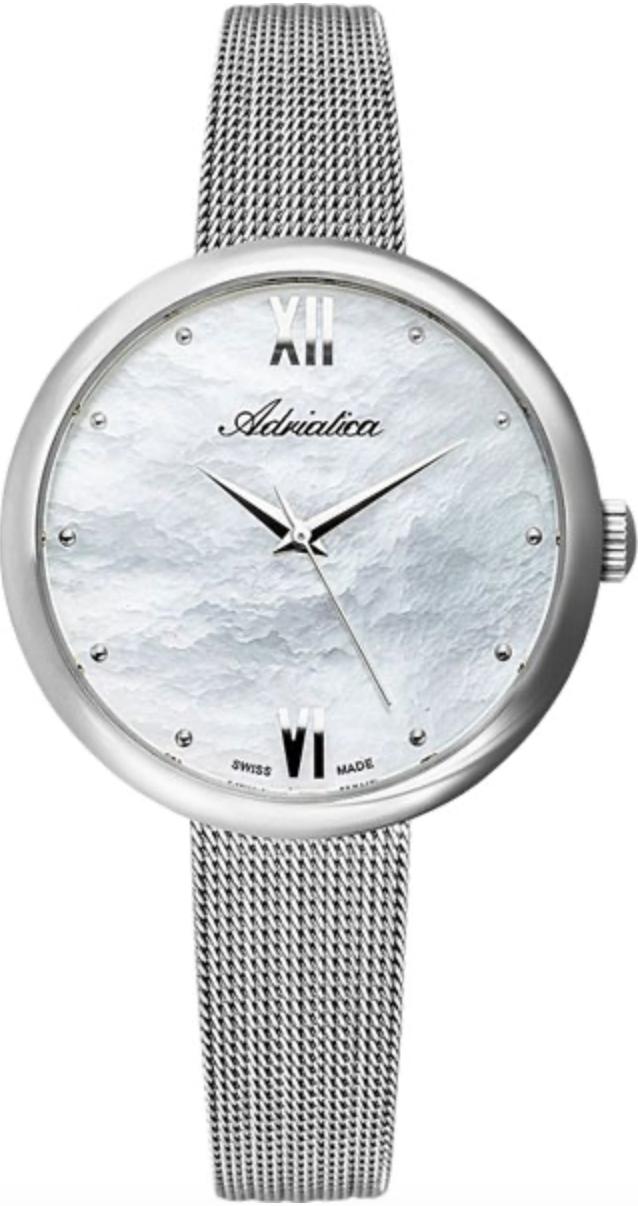 Наручные часы Adriatica Bracelet A3632 перламутровый серебристый/стальной