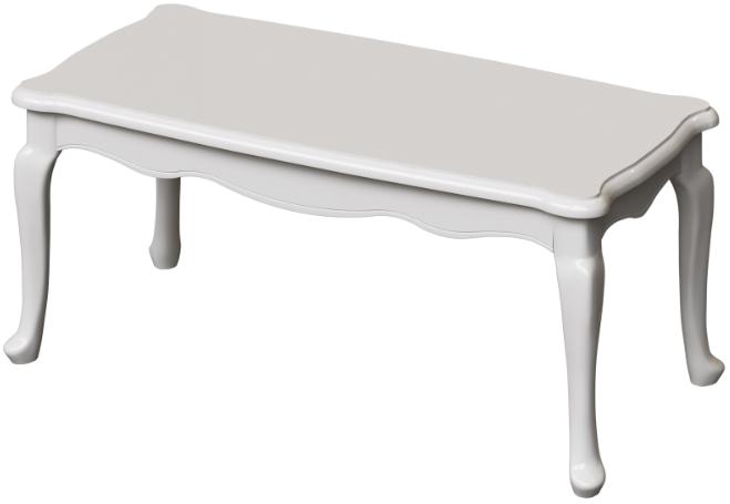 Журнальный столик Интердизайн Винтаж белый/белый 48x113x53 см